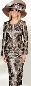 Lily and Taylor 3762 Ladies Multi Floral Print Skirt Suit