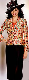 Lily and Taylor 3770 Womens Triangle Pattern Suit