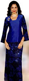 Lily and Taylor 3771 Ladies Silky Twill Top & Lace Skirt Suit
