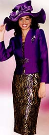Lily and Taylor 3776 Ladies Silky Twill Suit With Sequins