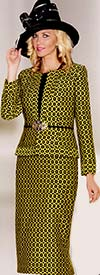 Lily and Taylor 3804 Womens Three Piece Skirt Suit