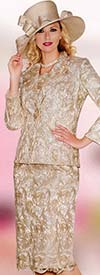 Lily and Taylor 3813 Ladies Lace Skirt Suit For Church