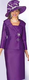 Clearance Lily and Taylor 3961 - Silky Twill Two Piece Skirt Suit With Layered Shawl Lapel