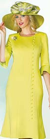 Clearance Lily and Taylor 4045 - Novelty Fabric Flared Dress With Bell Cuffs