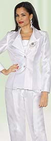 Lily and Taylor 2667 - Two Piece Silky Twill Womens Pant Suit