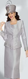 Lily and Taylor 3484 - Three Piece Rhinestone Embellished  Skirt Suit For Church