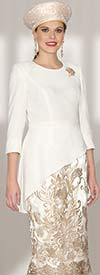 Lily and Taylor 3720 - Womens Suit With Crepe Top & Lace Skirt