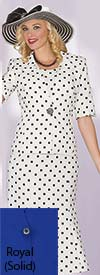 Clearance Lily and Taylor 3825 - Crepe Fabric Three Piece Polka Dot Flared Skirt Suit