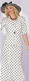 Clearance Lily and Taylor 3825 - Three Piece Polka-Dot Skirt Suit With Crepe Fabric
