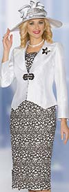Lily and Taylor 3826 - Womens Silky Twill Skirt Suit With Lace