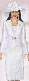 Lily and Taylor 3828 - Womens Silky Twill Suit With Sequins