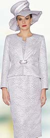 Lily and Taylor 3830 - Ladies Texture Pattern Skirt Suit For Church