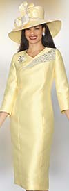 Clearance Lily and Taylor 3860 - Womens Rhinestone Embellished Silky Twill Dress