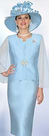 Lily and Taylor 3920 - Ladies Silky Crepe Skirt Suit For Church