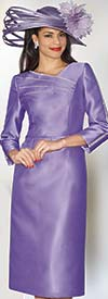 Clearance Lily and Taylor 3941 - Womens Silky Twill Dress Embellished With Rhinestones