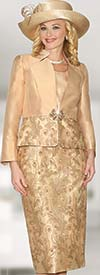 Lily and Taylor 3956 - Womens Silky Twill Skirt Suit With Sequins