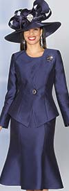 Lily and Taylor 3977 - Womens Silky Crepe Fabric Skirt Suit For Church