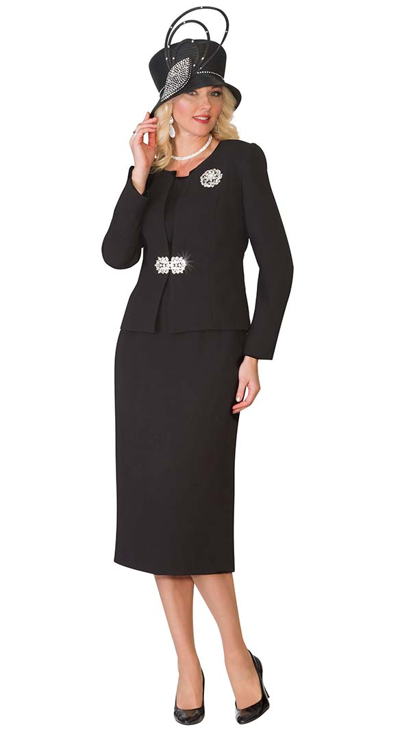 Lily and Taylor 3052 - Poly Crepe Fabric Womens Three Piece Skirt Suit