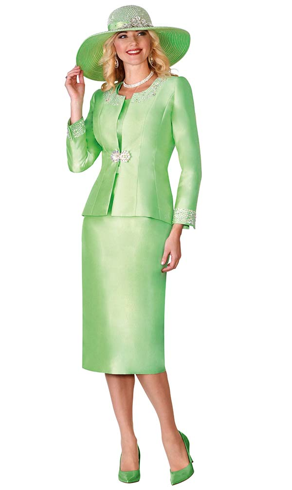 Lily and Taylor 3800 Womens Skirt Suit With Embellished Jacket