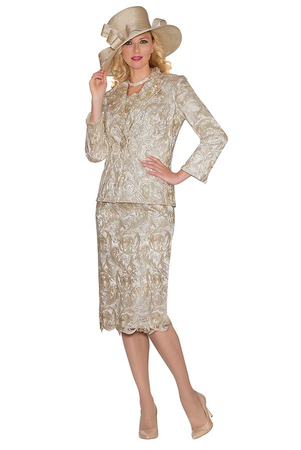 Lily and Taylor 3813 - Lace Fabric Womens Skirt Suit