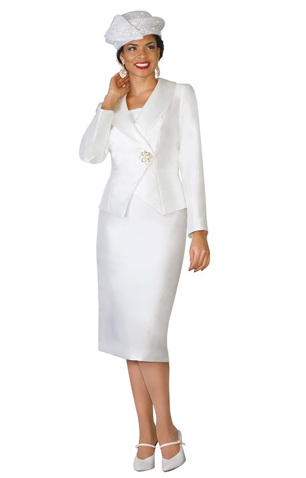 Lily and Taylor 4037 - Silky Twill Womens Suit With Shawl Lapel