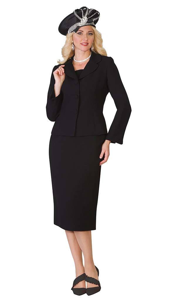 Lily and Taylor 4063 - French Crepe Fabric Womens Two Piece Skirt Suit