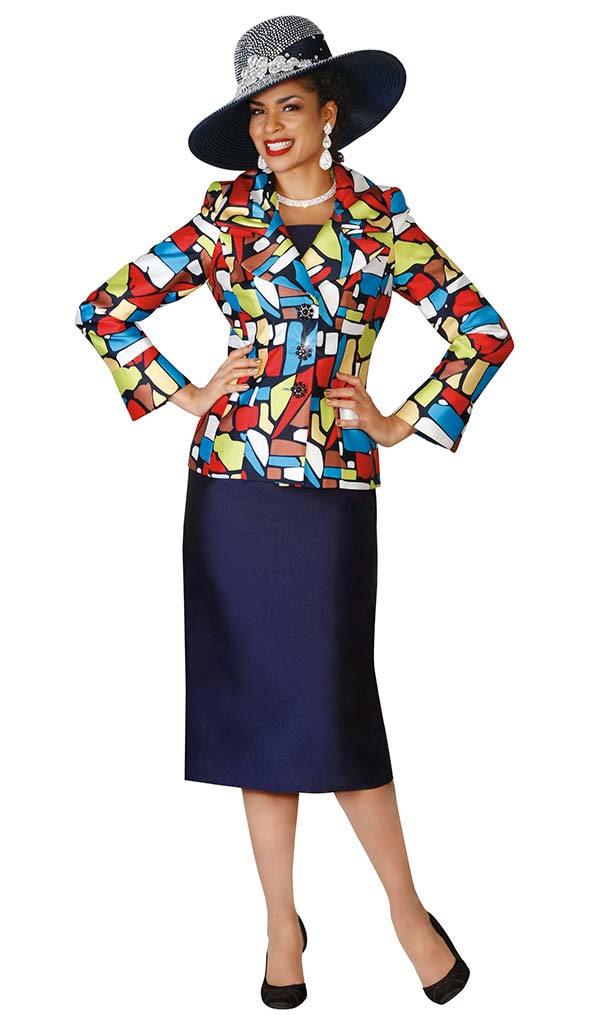 Lily and Taylor 4066 Womens Skirt Suit With Embellished Jacket