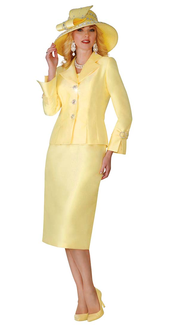 Lily and Taylor 4096 - Womens Silky Twill Skirt Suit With Notch Lapels