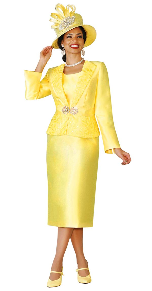 Lily and Taylor 4109 - Silky Twill Womens Church Suit With Lace