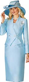Lily and Taylor 4113 - Womens Suit With Asymmetric Two Button Double Breasted Jacket
