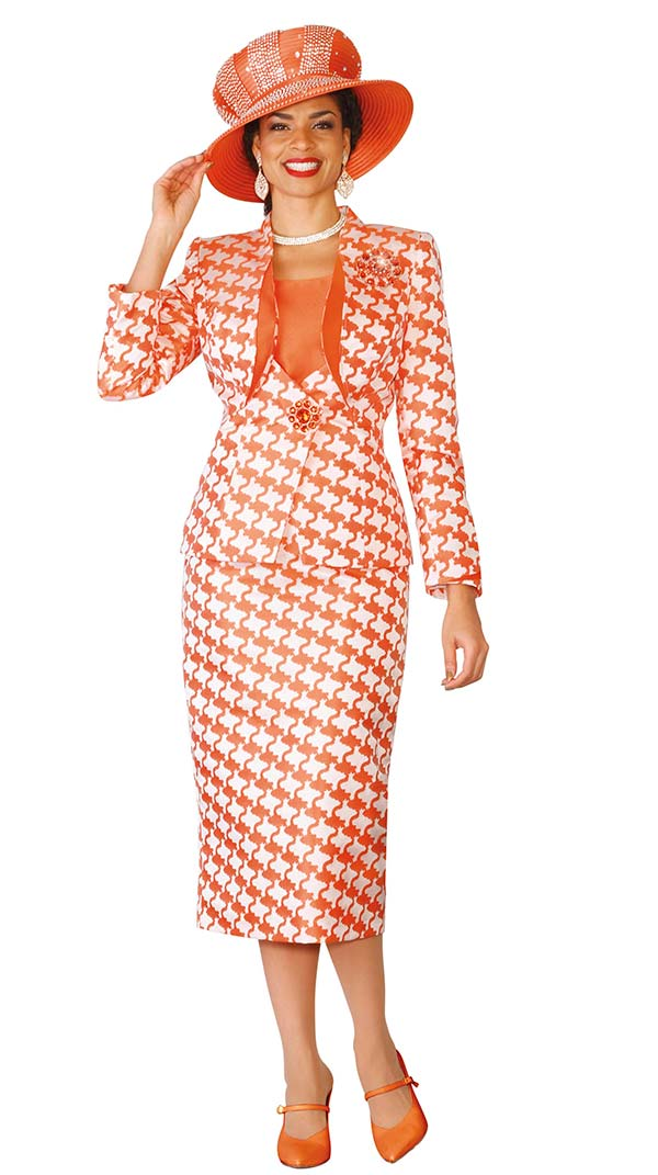 Lily and Taylor 4127 Womens Skirt Suit With Multi Pattern Print Design