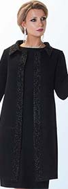 Liorah Knits 7224 - Womens Knit Dress Suit With Long Jacket