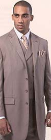 Longstry New York 5263V Mens Wool Feel Suit With Long Jacket