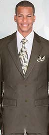 Longstry New York 57021K Mens Two Button Church Suit