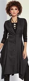 Love The Queen 17152 Couture Design Long Vest With Poly Blend Twill Fabric