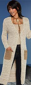 Clearance Love The Queen 17172 Novelty Knit & Lurex Fabric Womens Duster