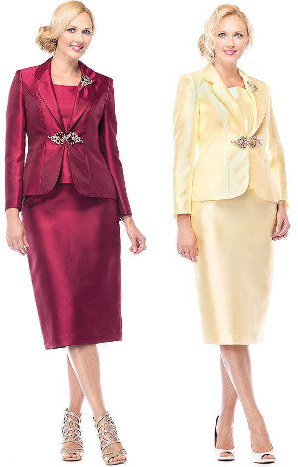 Beautiful Giovanna Collection Women39s Rhinestone Buckle 3piece Skirt Suit