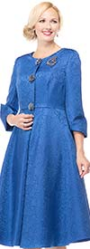Moshita 6733 Womens Brocade Coat & Dress Set