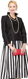 Moshita 7026 Ladies Striped Skirt Set