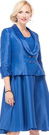 Moshita 7048 Womens Shawl Lapel Jacket & Dress Set
