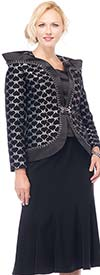 Moshita 7146 Womens Brocade Print Jacket & Skirt Suit