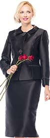 Moshita 7153 Womens Silky Twill Jacket & Skirt Suit