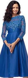 Moshita 7175 Ladies Lace Adorned A-Line Dress