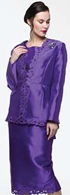 Moshita 7150 Ladies Skirt Suit With Embroidered Trim