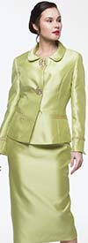 Moshita 7153 Ladies Silky Twill Skirt Suit For Church