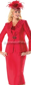Moshita 6425 Red - Womens Church Suits