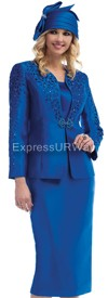 Moshita 6425 Royal - Womens Church Suits