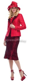 Moshita 6473 - Red Womens Church Suits