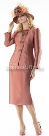 Moshita 6239 Womens Church Suits Copper