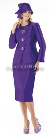 Moshita 6239 Womens Church Suits Purple